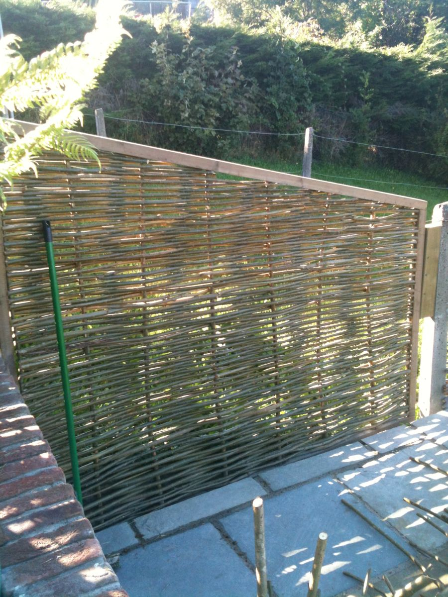 Willow Fencing in Greystones Suburban Garden