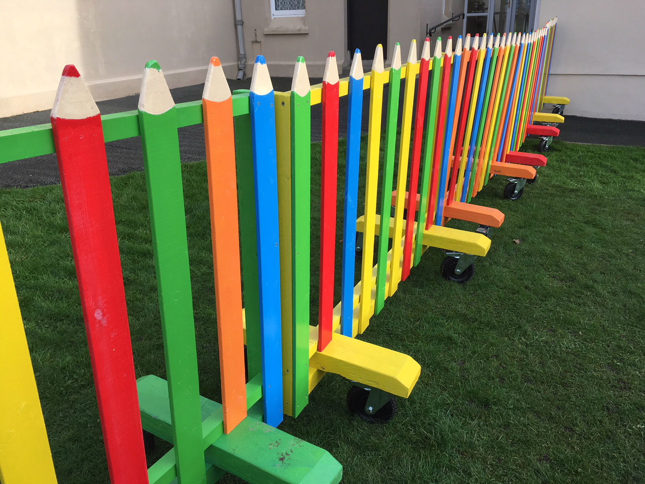 Crayon Pencil Fence